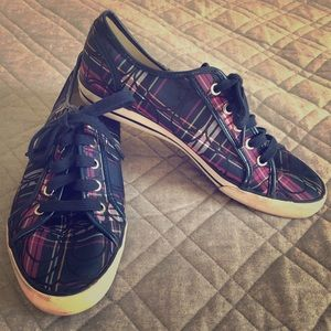 Coach Navy Blue Low Top Sneakers